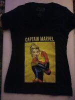 NWOT Marvel Comics Captain Marvel 2 cover - Riveter Women's v-neck T-Shirt sz L
