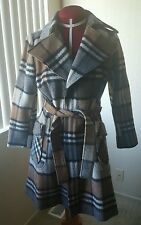 VINTAGE PLAID WOOL COAT SZ 6/P8