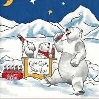 Coca-Cola Polar Bears Skating Party Wallpaper Border - Coke Borders SU