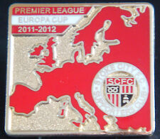 STOKE CITY FC 2011-2012 SUPPORTERS CLUB Badge Brooch pin In gilt 26mm x 24mm