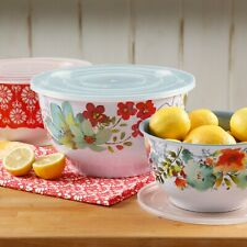 NEW IN BOX MELAMINE The Pioneer Woman Alex Marie Bowl Set, 3 Piece