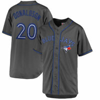 Toronto Blue Jays MLB #20 Donaldson Men's Charcoal Big & Tall Jersey