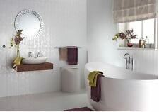 Laura Ashley Cottonwood Feature White Wall Tile 248 x 498