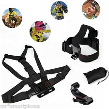 Head Strap Mount+Chest Harness F GoPro HD Hero 3+ 3 2 5 4 1 Go Pro Accessories