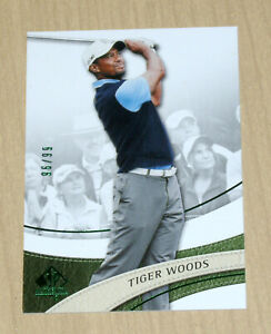 2013 2014 SP Authentic Golf Tiger Woods GREEN parallel 96/99