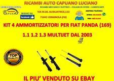 KIT 4 AMMORTIZZATORI FAST A GAS Fiat Panda 169 1.1 1.2 1.3 MULTIJET VAN dal 2003