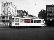 PHOTO  BELGIUM TRAMS 1959 BRUXELLES SCHAERBEEK STIB TRAM NO 5012