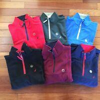 NWT Nautica Men's Pullover Jacket Quarter Zip Fleece Mock Neck Classic Fit New