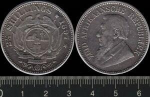 South Africa: 1897 2½ Shillings Zuid Afrikaansche Repuliek silver
