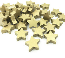50pcs  Wooden star shape Loose Beads Gold beads Necklace Make Accessories