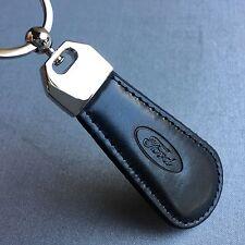 NEW FORD LOGO LEATHER LOOK BLACK KEYCHAIN KEY-CHAIN Key Ring KC068