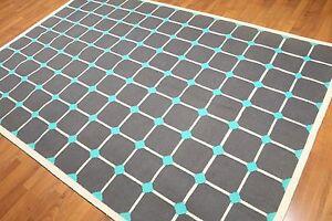 6' x 9' Handmade 100% wool Kilim Area rug flat pile 6X9 Grey