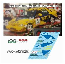 DECALS 1/43 FORD SIERRA COSW DROOGMANS RALLY YPRES 1992