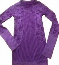 LULULEMON Swiftly Tech Long Sleeve Crew size 2 Heathered Tender Violet EUC Run