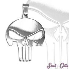 Totenkopf skull Anhänger Kettenanhänger silbern Edelstahl