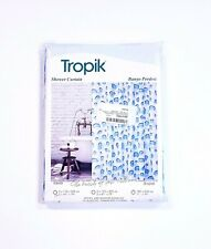 """Tropik Water Repellent Polyester Fabric """"Droplet"""" Shower Curtain 71 x 79 Inches"""