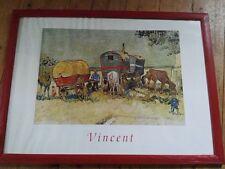 Vincent Unterwegs mit Pferd Kutsche Druck Poster im Rahmen 75,5 cm x 55 cm Bild
