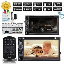 """2 Din 6.2""""Car Stereo CD DVD Player Radio Touch Screen In-dash Bluetooth For Jeep"""