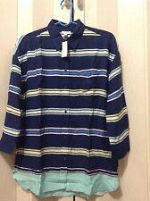 NWT  gap lady's stripe pocket tee/brook/US sizeS 3/4sleeve