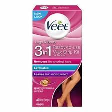 Veet Leg & Body Hair Remover Cold Wax Strips, 40ct