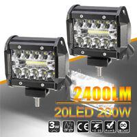 "2x 4"" Inch LED Work Light Flood Spot Combo Off-road Driving Fog Lamp Truck Boat"