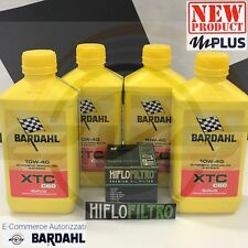 4 Litri Nuovo Olio Moto Bardahl XTC C60 10W40 Polarplus Fullerene +Filtro HIFLO