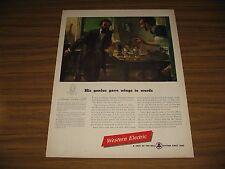 1947 Print Ad Western Electric Telephone Inventor Alexander Graham Bell
