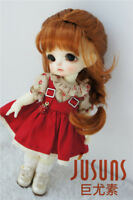 5-6inch Lati Yellow Doll Hair French Braids Synthetic Mohair BJD Doll Wigs 1/8