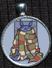 Totoro Doctor Who Scarf Time Lord Tardis Jewelry Necklace Pendant Ghibli Disney