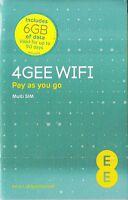 EE 4G SIM 6GB Data SIM Ready-to-go Mobile Broadband iPad,Tablet,Wi-Fi device