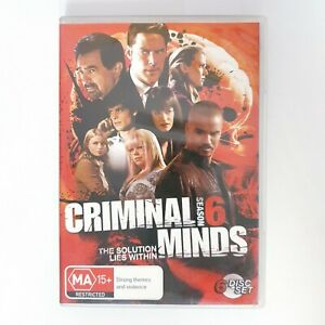 Criminal Minds Season 6 TV Series DVD Region 4 AUS Free Postage