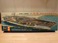 Revell Authentic U.S.S. Forrestal, vintage Aircraft carrier model kit.
