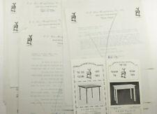 1928 Lamson Goodnow EE Doe Mfg Co Card Table Leaflets Orleans VT Ephemera P1081E