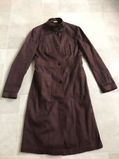 vintage miu miu military trench coat IT44 oxblood canvas instagram RARE