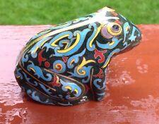 Cloisonné Frog Figurine Great Condition !