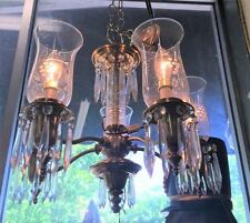 Antique Brass and Crystal Chandelier Colonial / Federal Style