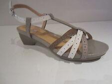 Geox D ranuncolo e [ TGL 36,5] Donna Pelle Moda - Sandali bianco grigio
