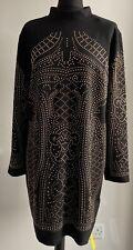 Simply Be - Black Long Stud Sleeve Bodycon Dress - (Size 18) - BNWT