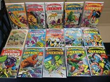 Challengers Of The UnKnown 15 Book Lot Jack Kirby 60% off Bv $400