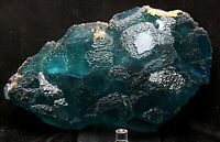 14.4lb Ladder-like Blue Green Cube Fluorite Crystal Mineral Specimen/China