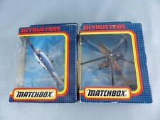 MATCHBOX SKYBUSTERS SB-33 Bell jet Ranger + SB-35 MIL MI-24 HIND-D avion NEUF