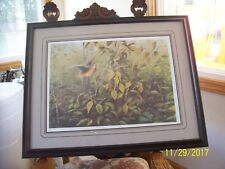 "Gary Moss Artist ""Sudden Double"" Number & Signed Vintage Print 90/1500 Framed"