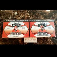 LOT 2 Leaf 2021 NFL Draft Football Blaster Boxes 2 Autos SEALED LAWRENCE FIELDS