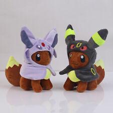 "Pokemon Center Eevee Poncho  Umbreon Espeon Plush Doll Soft Figure Toy Gift 7"""