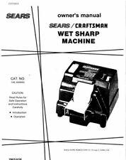 Craftsman 146.669950 Wet Sharp Machine Instruction Manual FREE SHIPPING