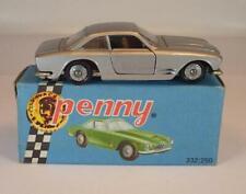 Politoys Penny ca. 1/66 Nr. 0/29 Maserati 3500 GT Coupe silbermetallic OVP #119