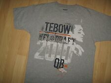 Tim Tebow Tee - Reebok 2010 NFL Football Draft Pick Quarterback Player T Shirt M