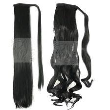 Haarteil Zopf Pferdeschwanz Haarverlängerung Haarverdichtung Extra Dick und Lang