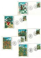5 Sobres primer dia España 1972 Flora 2085/2089 Spain First day sellos