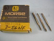 Qty of 6 New Morse 3-56 NF GH2 HSS 2 Flute SP/PT Plug Taps Ground Thread